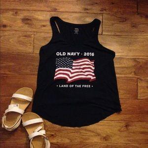 NWOT Old Navy American Flag Tank Top